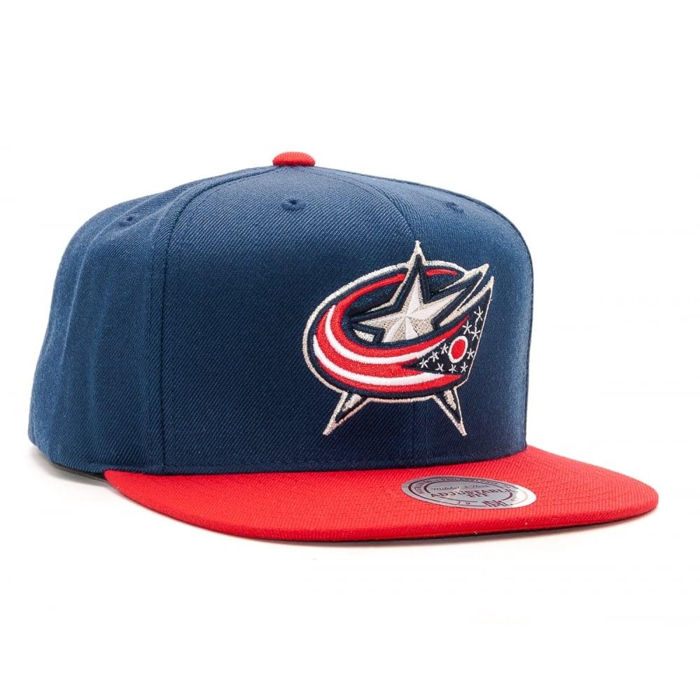 Mitchell   Ness NHL Columbus Blue Jackets 2017 Snapback Cap ... d7e9ae078b5