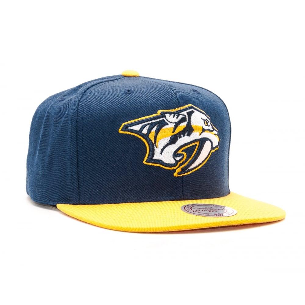 Mitchell   Ness NHL Nashville Predators 2017 Snapback Cap - Headwear ... 9ea97343488