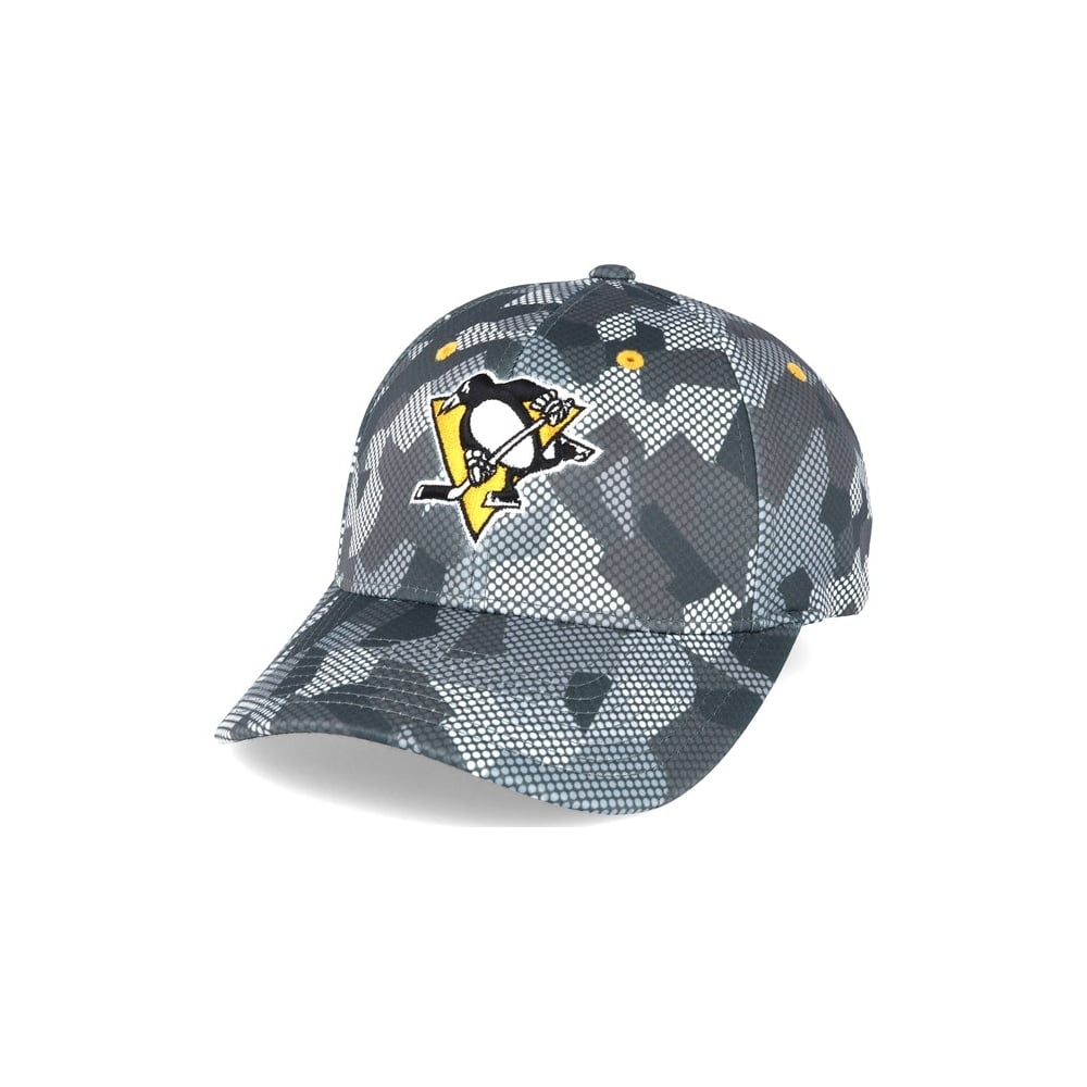 Mitchell   Ness NHL Pittsburgh Penguins Carbon Camo Slouch Flexfit ... 689c7baab72a