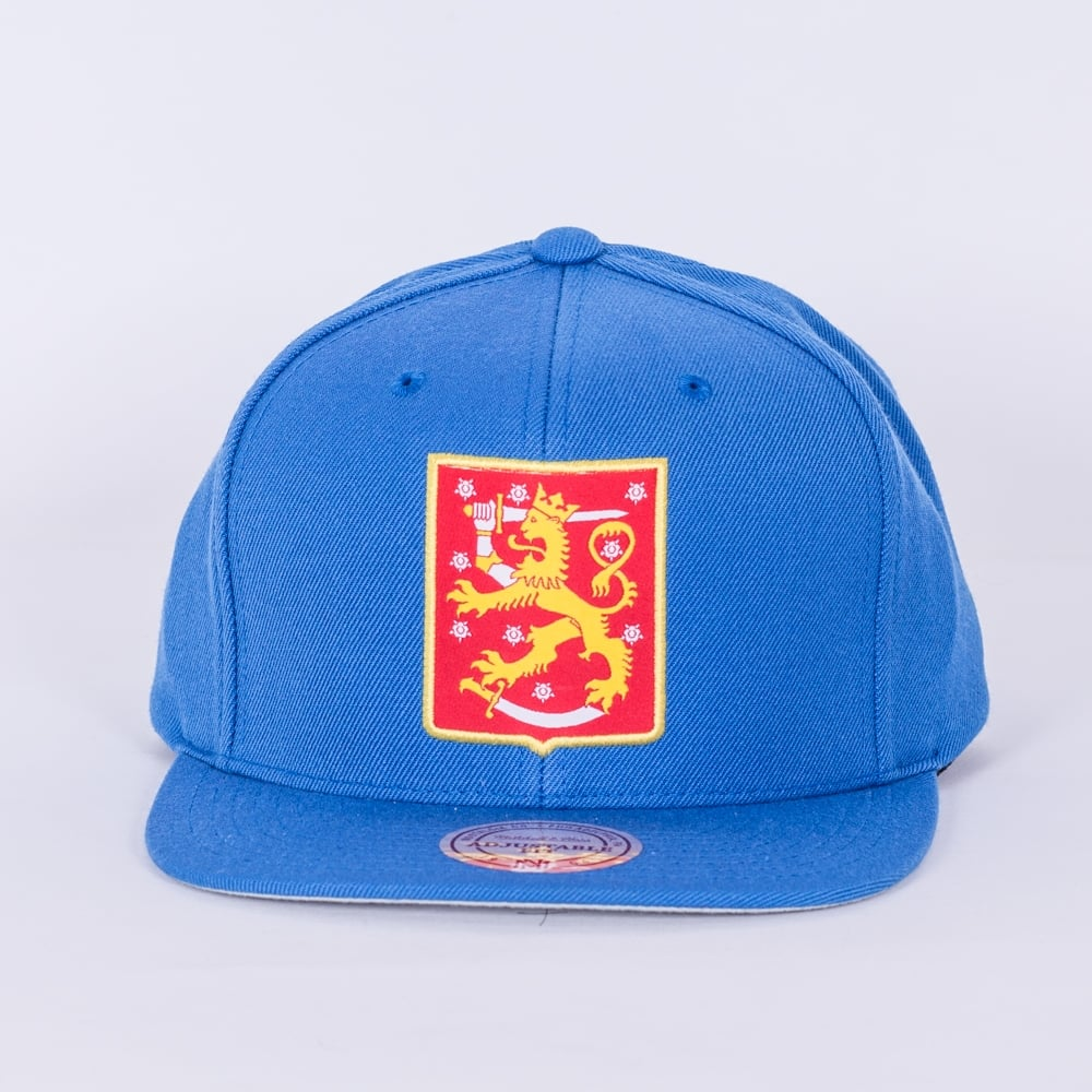 Mitchell   Ness World Cup Of Hockey Team Finland Blue Adjustable ... a076f6746