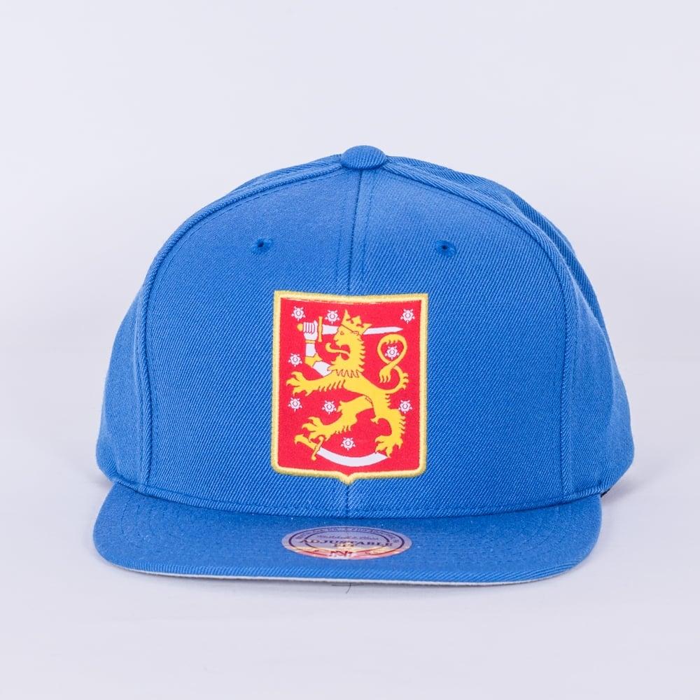 98a803eb589b4 Mitchell   Ness World Cup Of Hockey Team Finland Blue Adjustable ...