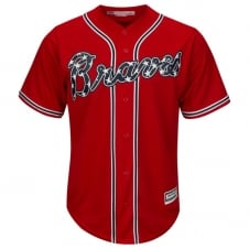 MLB Atlanta Braves Cool Base Alternate Red Jersey