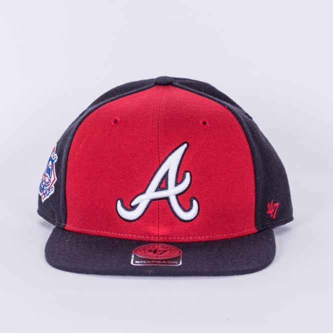'47 MLB Atlanta Braves Sure Shot Accent Captain Snapback