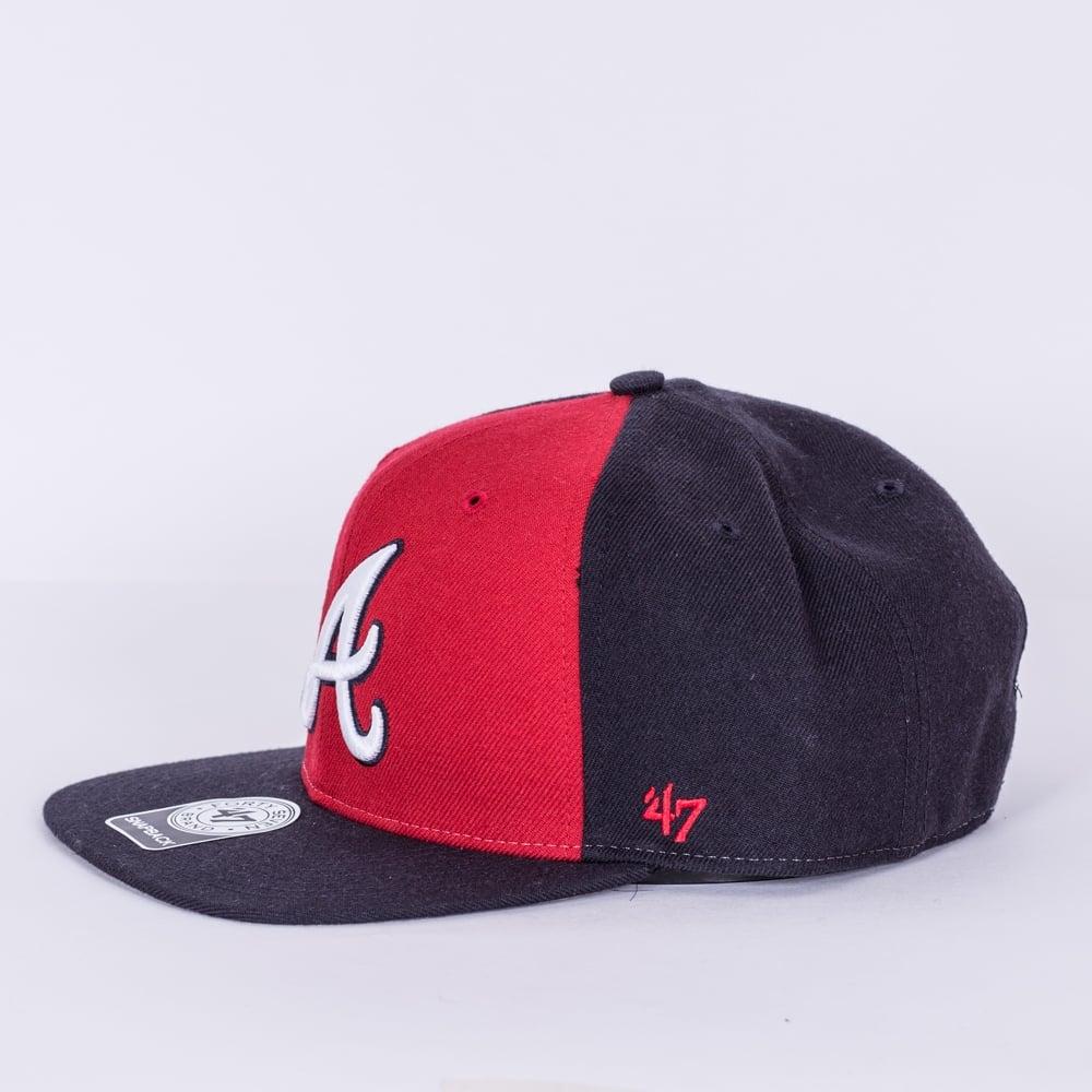 detailing ff874 a0642 MLB Atlanta Braves Sure Shot Accent   039 47 Captain Snapback
