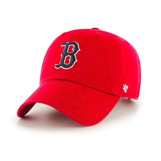 '47 MLB Boston Red Sox Clean Up Adjustable Red Cap