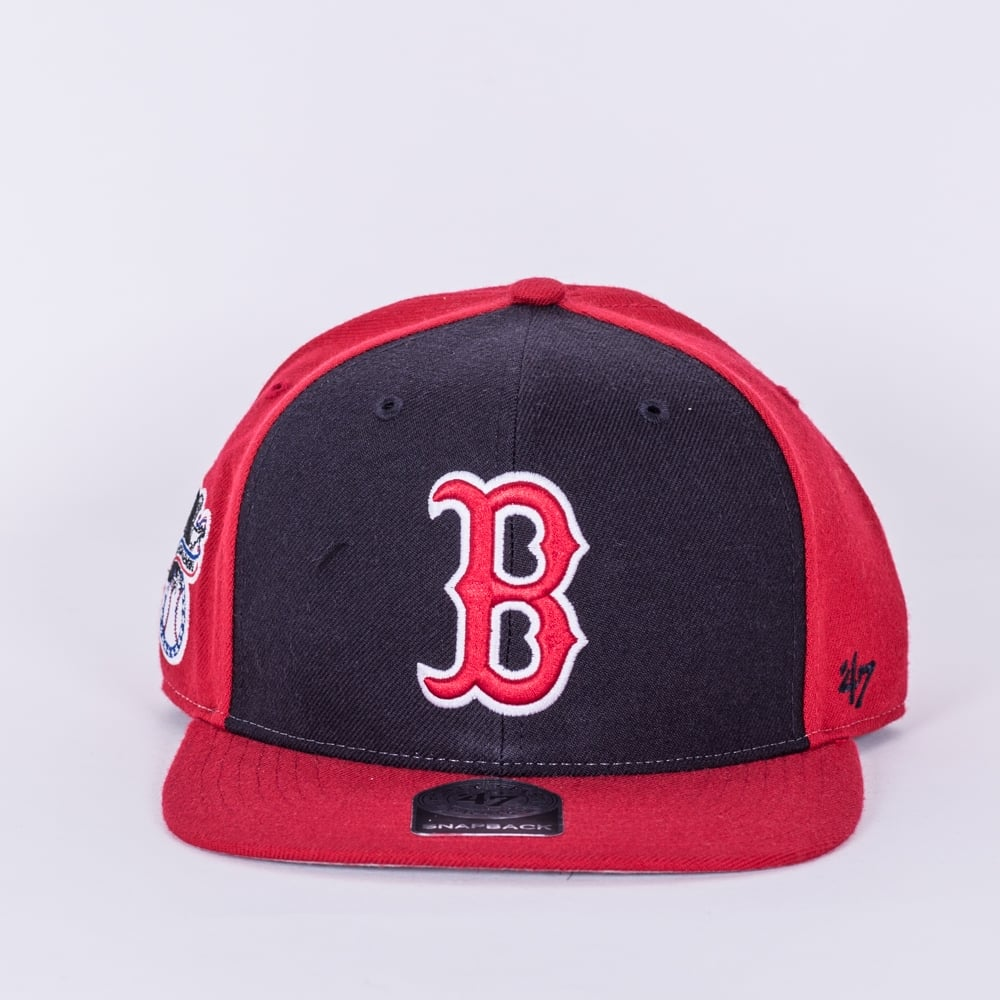 e132e4f8fa9 47 MLB Boston Red Sox Sure Shot Accent  47 Captain Snapback Cap ...