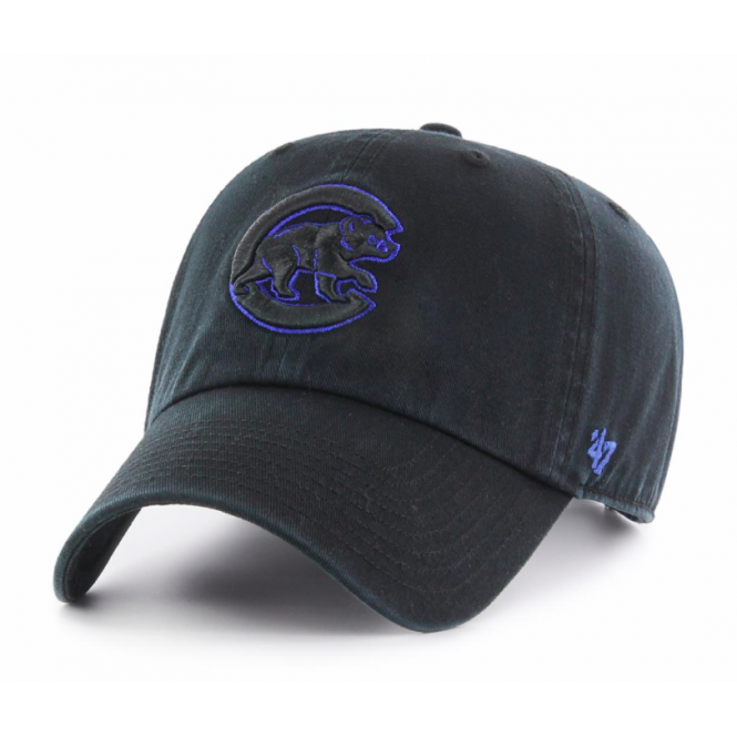 '47 MLB Chicago Cubs Black Clean Up Adjustable Cap