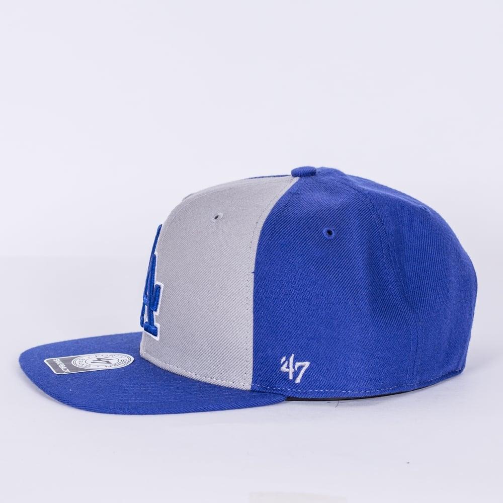 premium selection 13089 63ba1 MLB Los Angeles Dodgers Sure Shot Accent   039 47 Captain Snapback Cap