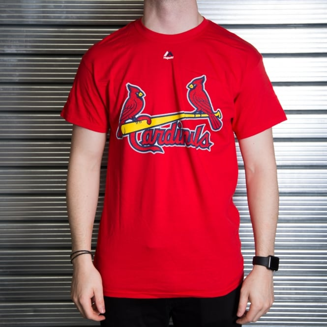 Majestic Athletic MLB St. Louis Cardinals Yadier Molina Red Official Name and Number T-Shirt