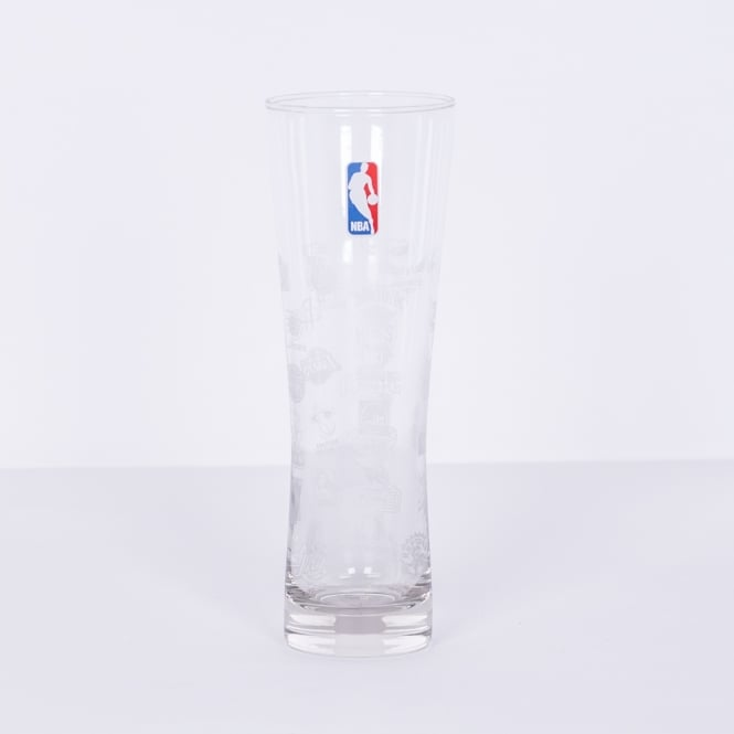Forever Collectibles NBA All Logo Slim Pint Glass