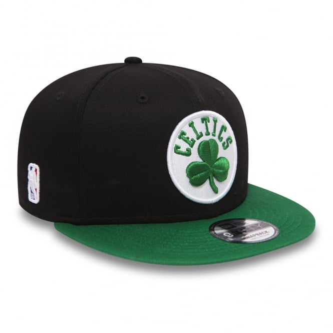 97fadeb1 New Era NBA Boston Celtics Black Base 9Fifty Snapback Cap - Headwear ...