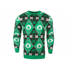 NBA Boston Celtics Candy Cane Ugly Sweater