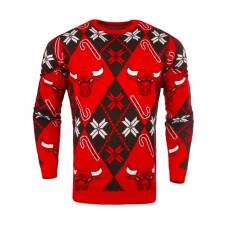 NBA Chicago Bulls Candy Cane Ugly Sweater