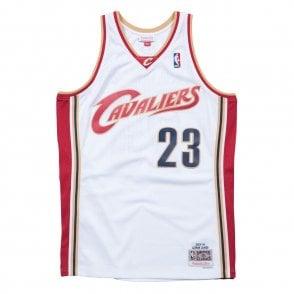 7229013952ef NBA Cleveland Cavaliers LeBron James 2003-2004 Swingman Jersey White.  Mitchell   Ness ...