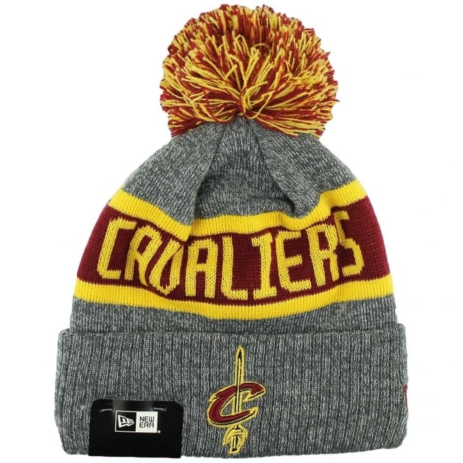 New Era NBA Cleveland Cavaliers Youth Marl Cuff Bobble Knit