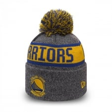 NBA Golden State Warriors Youth Marl Cuff Bobble Knit