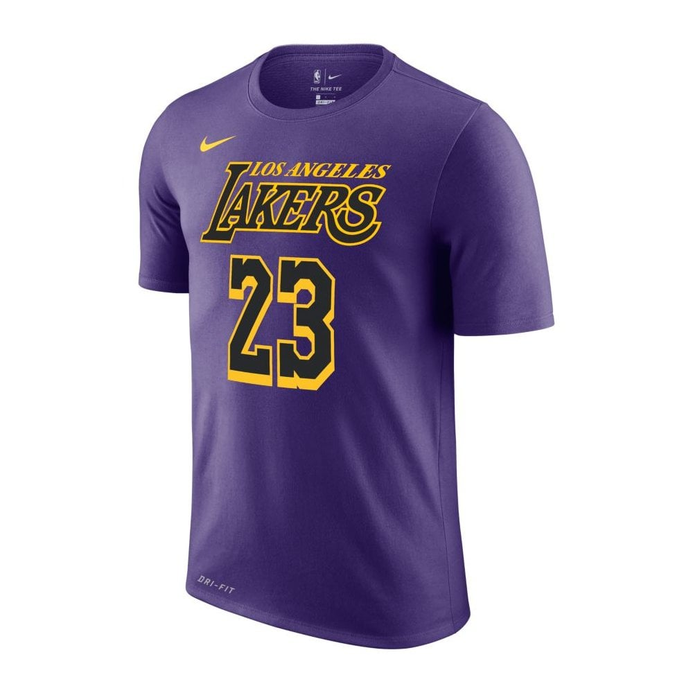 timeless design ea6b8 13c04 NBA Los Angeles Lakers LeBron James City Edition Dri-Fit T-Shirt