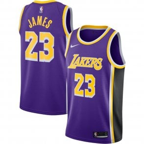 sale retailer 35320 a413a Nike NBA Los Angeles Lakers LeBron James Youth Swingman ...