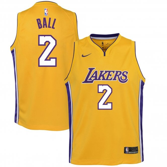 check out c1d6f c665b NBA Los Angeles Lakers Lonzo Ball Youth Swingman Jersey - Icon Edition