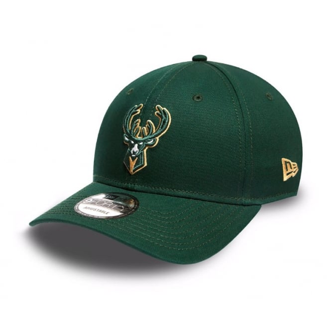 New Era NBA Milwaukee Bucks Team 9Forty Adjustable Cap