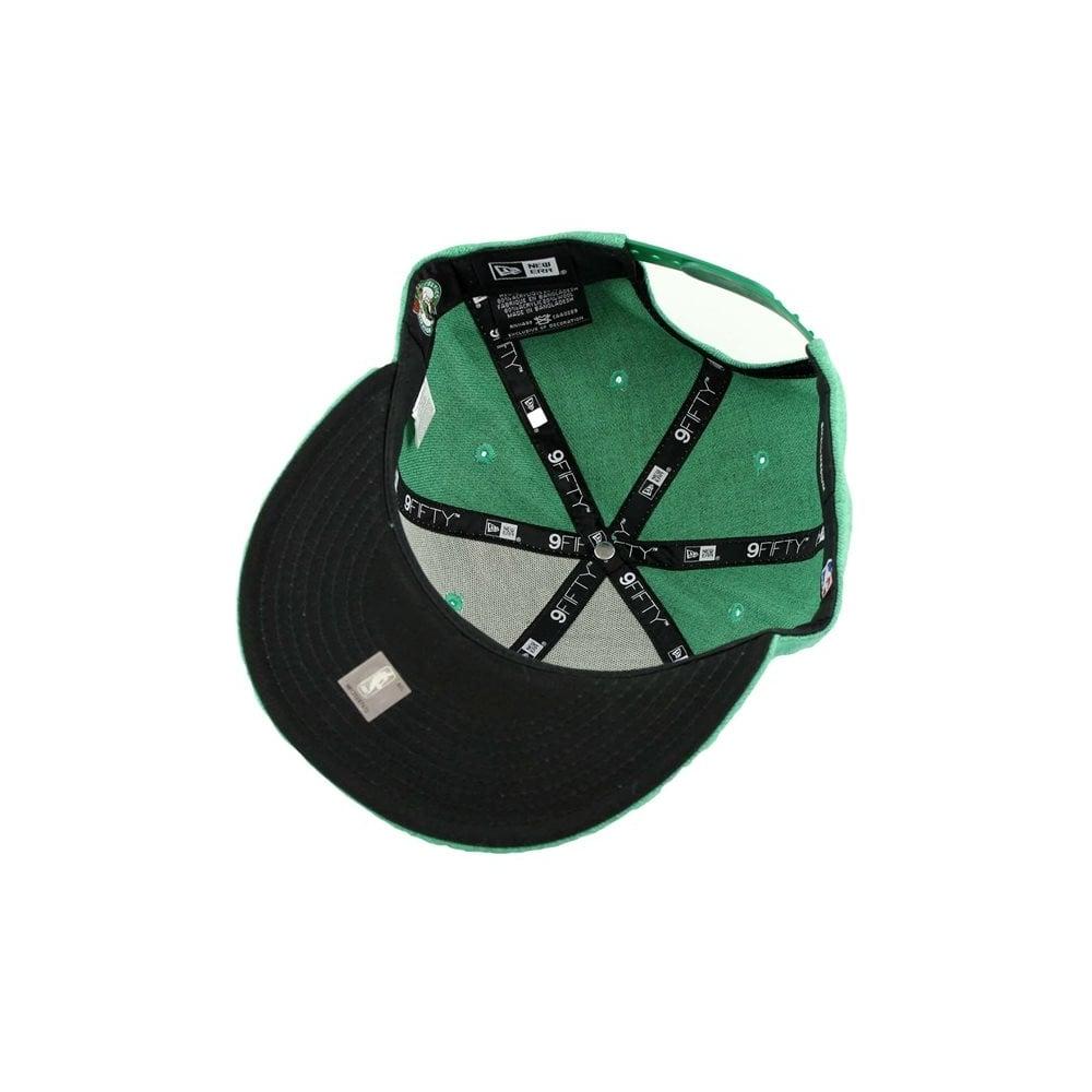 0e17fcc8975 New Era NBA Boston Celtics Team Heather 9Fifty Snapback Cap ...