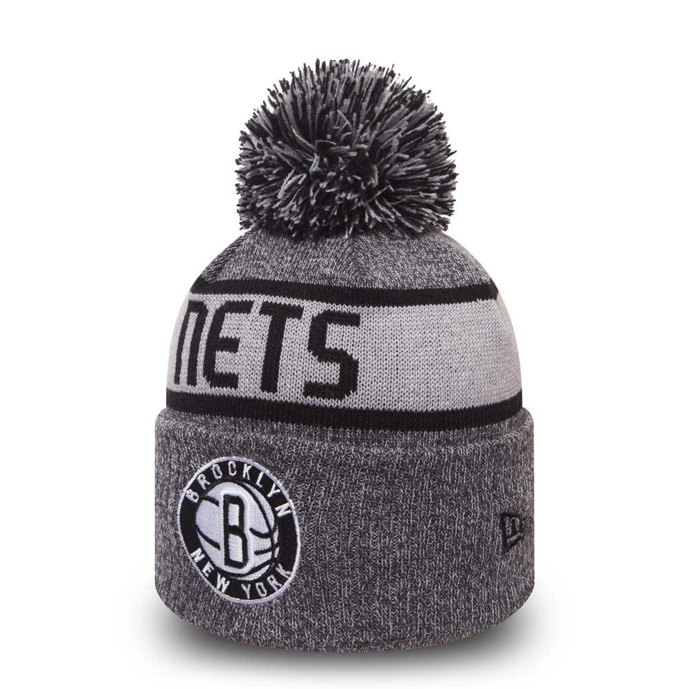 New Era NBA Brooklyn Nets Marl Cuff Bobble Knit - Headwear from USA ... decd57344
