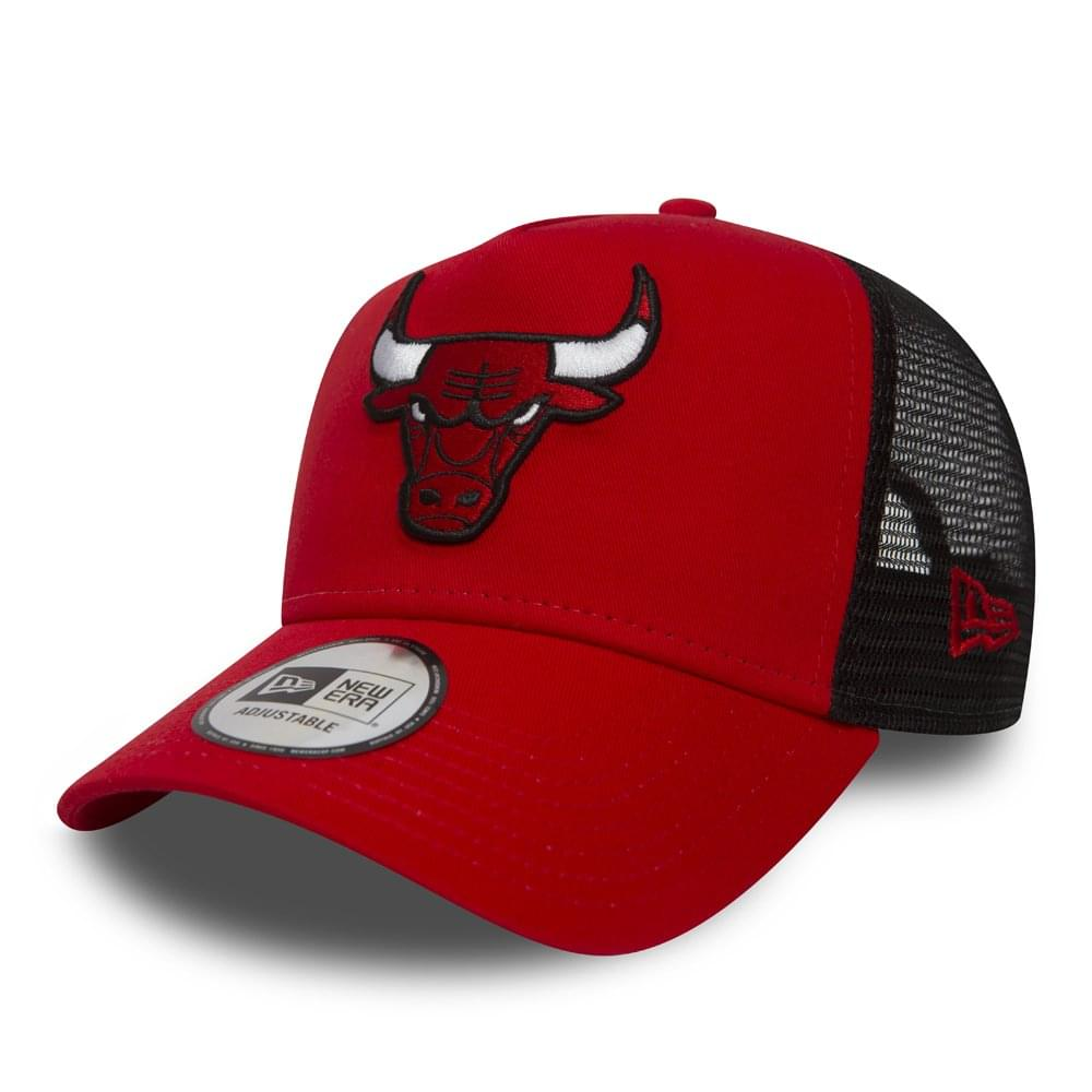 New Era NBA Chicago Bulls Essential Team A Frame Trucker Cap ... efbee560d14