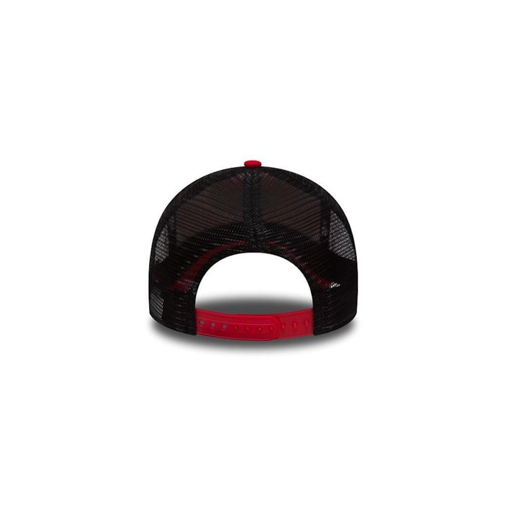 4903766287e9b New Era NBA Chicago Bulls Essential Team A Frame Trucker Cap ...