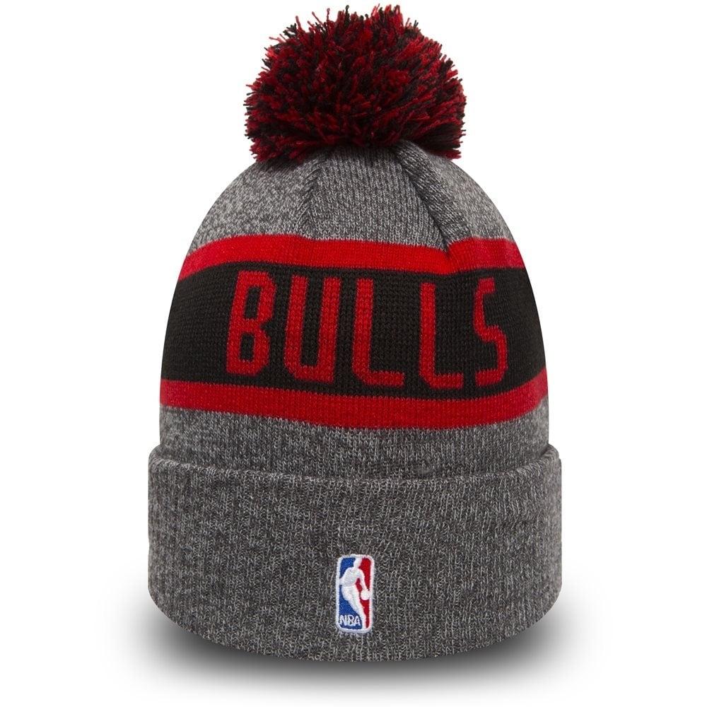 74a93edd6dc New Era NBA Chicago Bulls Youth Marl Cuff Bobble Knit - Knits from ...