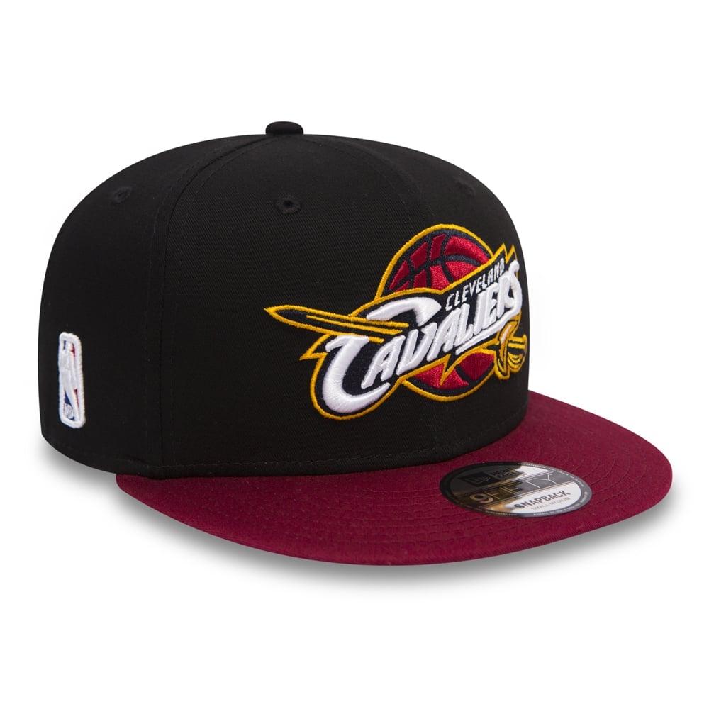 New Era NBA Cleveland Cavaliers Black Base 9Fifty Snapback Cap ... d30ed2b42