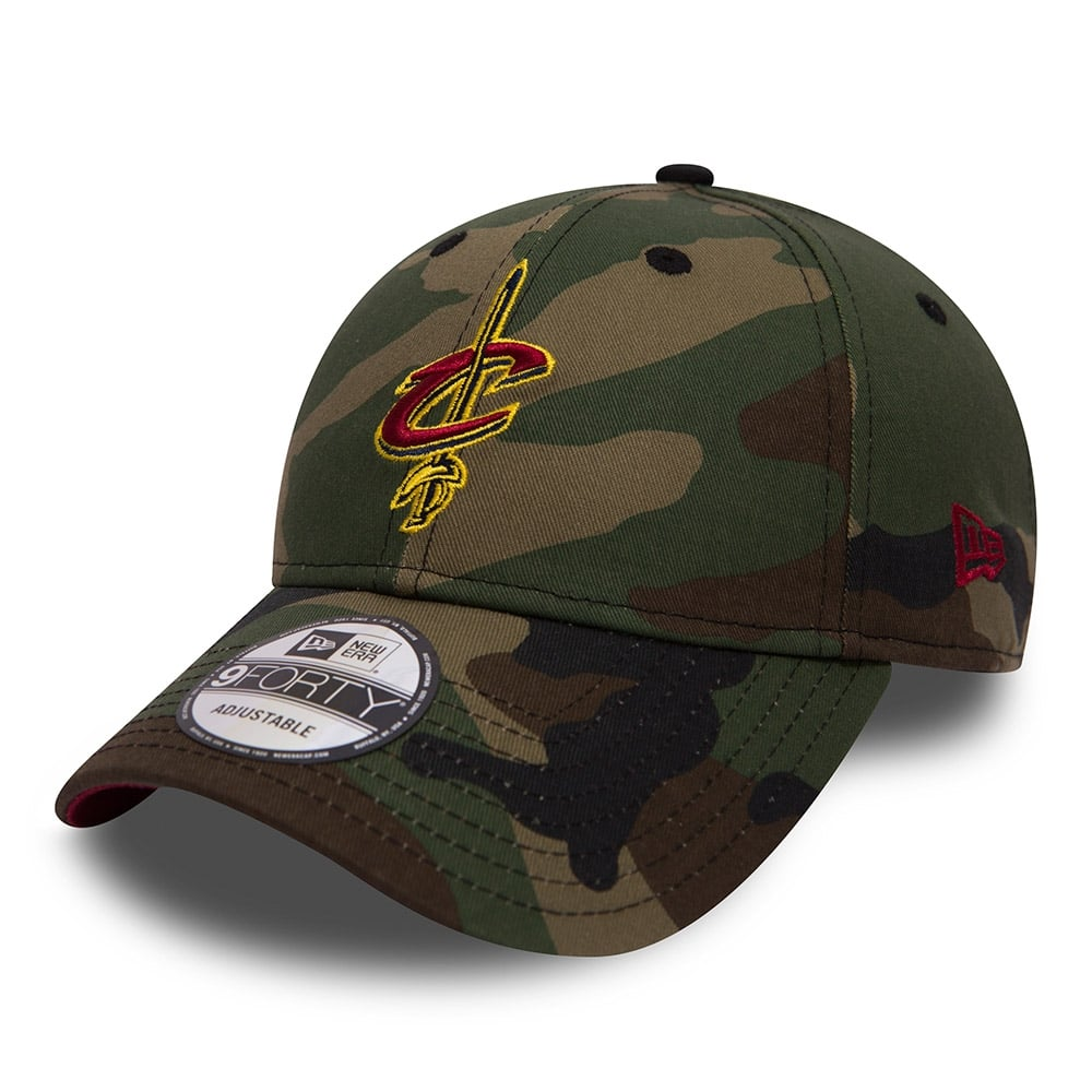 57de2c80a42 New Era NBA Cleveland Cavaliers Camo 9Forty Adjustable Cap ...
