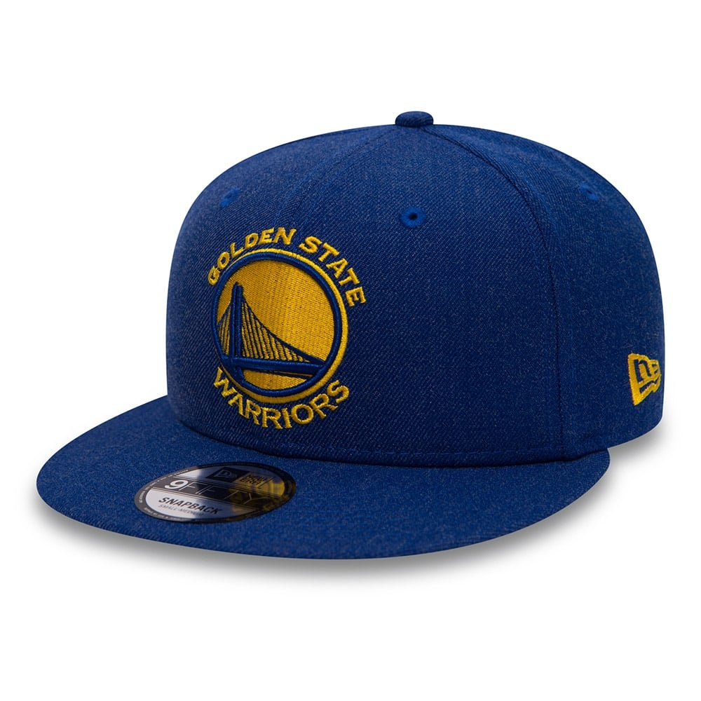 d9fee50c32c New Era NBA Golden State Warriors Team Heather 9Fifty Snapback Cap ...