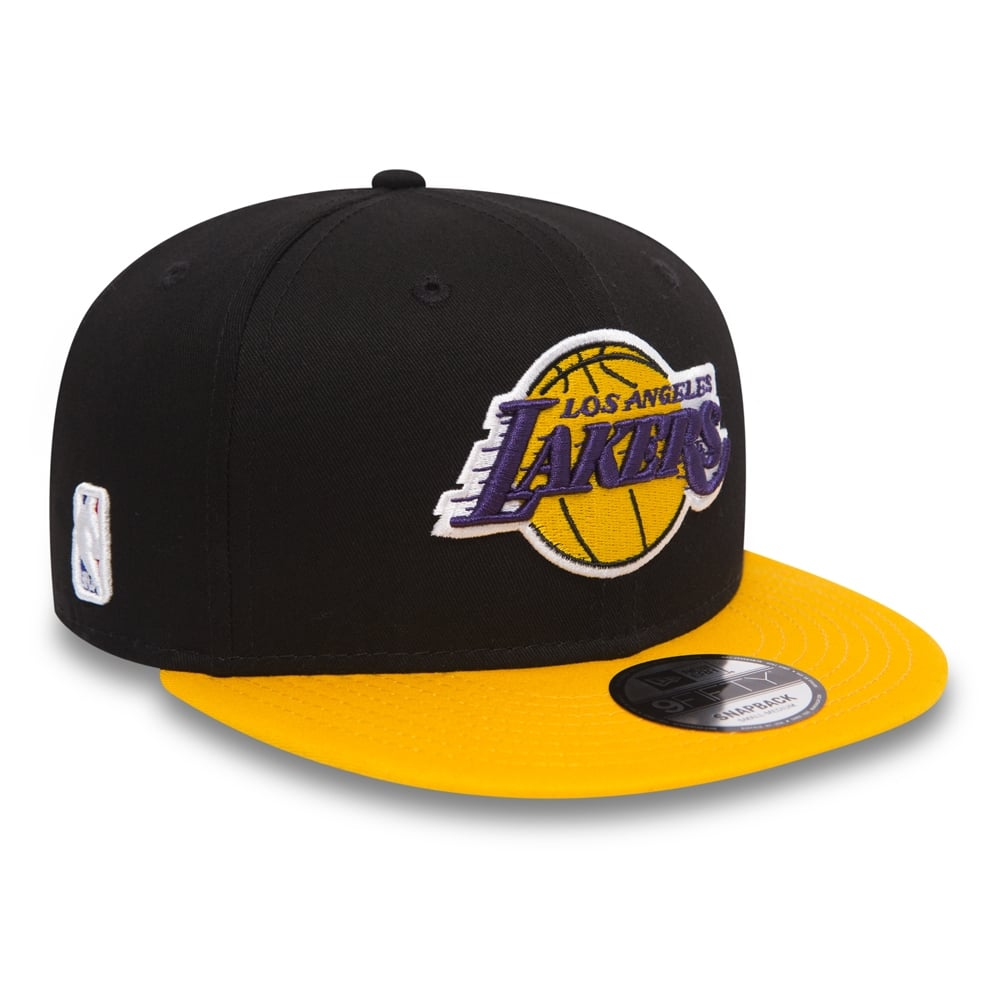New Era NBA Los Angeles Lakers Black Base 9Fifty Snapback Cap ... d373aa36ad4