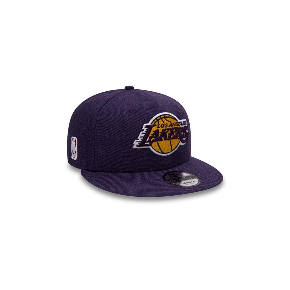 c89f5009c5a New Era NBA Los Angeles Lakers Team Heather 9Fifty Snapback Cap ...