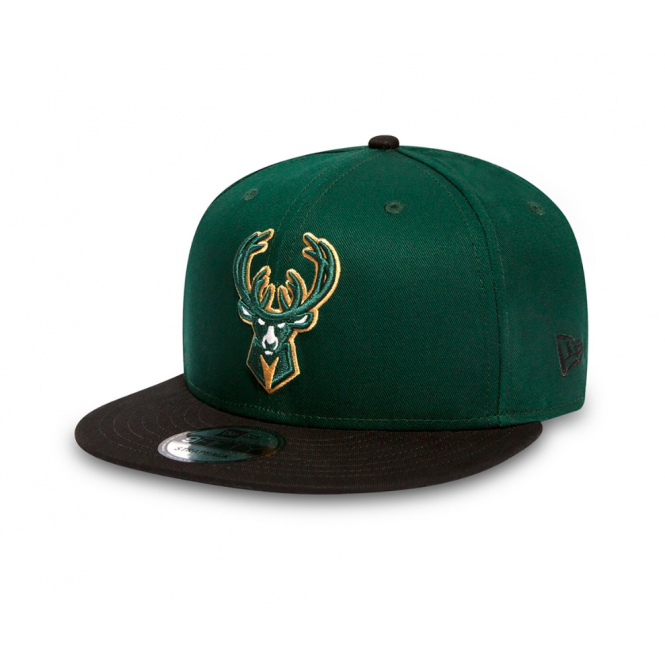 New Era NBA Milwaukee Bucks Team 9Fifty Adjustable Snapback Cap