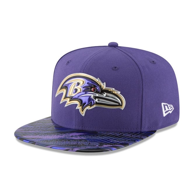 New Era NFL Baltimore Ravens 9Fifty Colour Rush On Field Original Fit Snapback Cap