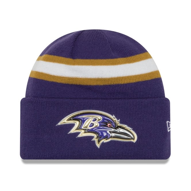 New Era NFL Baltimore Ravens Colour Rush On Field Cuffed Knit
