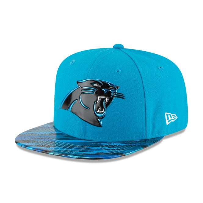 New Era NFL Carolina Panthers 9Fifty Colour Rush On Field Original Fit Snapback Cap