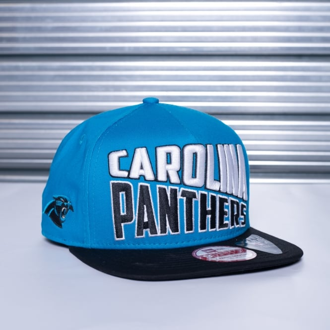New Era NFL Carolina Panthers Word Split 9Fifty Snapback Cap