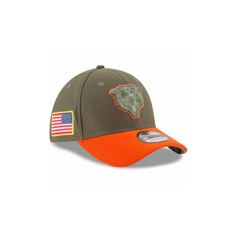ad79d41a5f0 New Era NFL Chicago Bears 2017 Salute to Service 39Thirty Cap ...