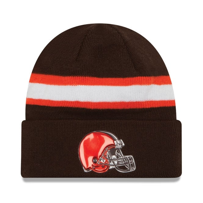 New Era NFL Cleveland Browns Colour Rush On Field Cuffed Knit