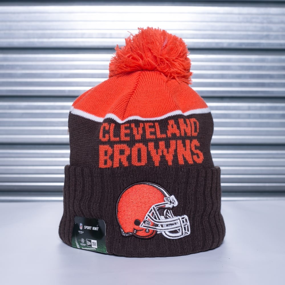 7abec45ca0b New Era NFL Cleveland Browns On Field Sport Pom Knit - Teams from ...