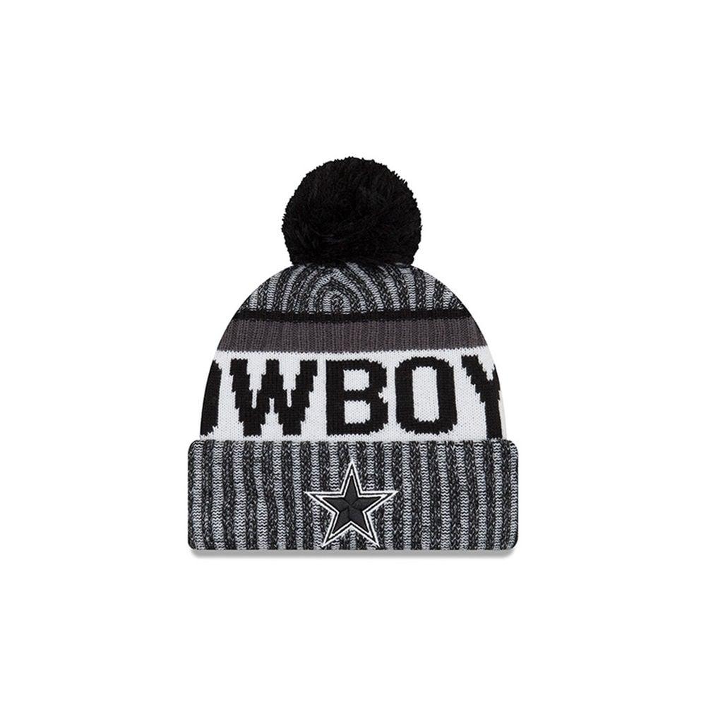 New Era NFL Dallas Cowboys 2017 Black White Sideline Sport Knit ... 2709e0968