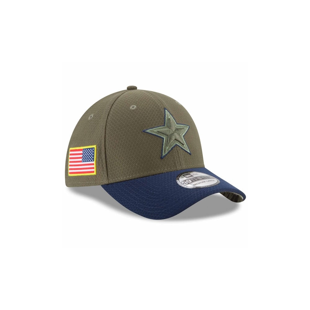 d26d91e13 New Era NFL Dallas Cowboys 2017 Salute to Service 39Thirty Cap ...