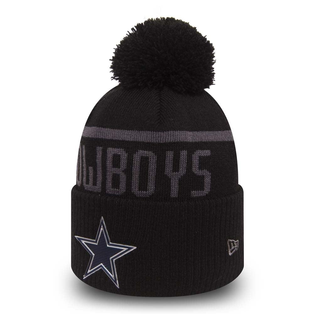 New Era NFL Dallas Cowboys Black Collection Cuffed Pom Knit ... 713827455