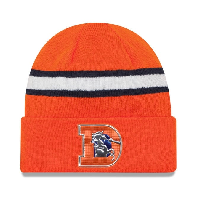 New Era NFL Denver Broncos Colour Rush On Field Cuffed Knit