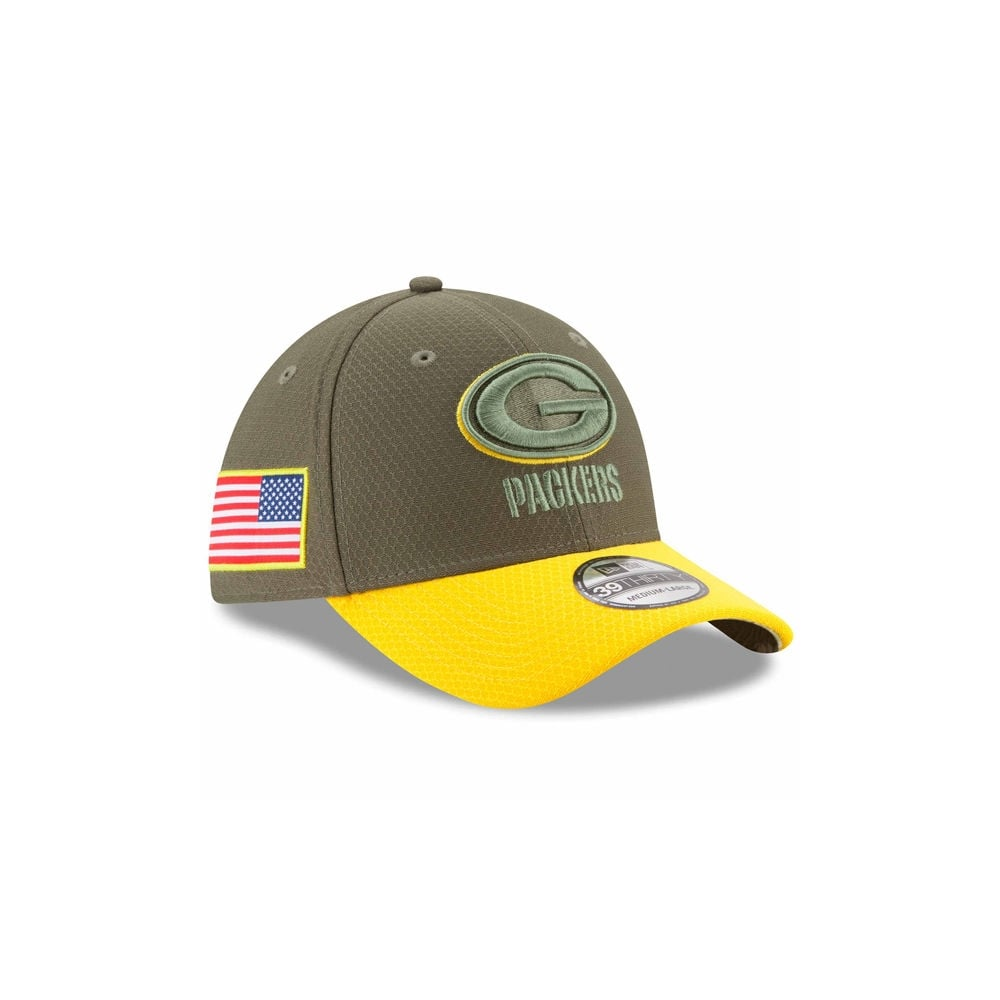 New Era NFL Green Bay Packers 2017 Salute to Service 39Thirty Cap ... a8508144069