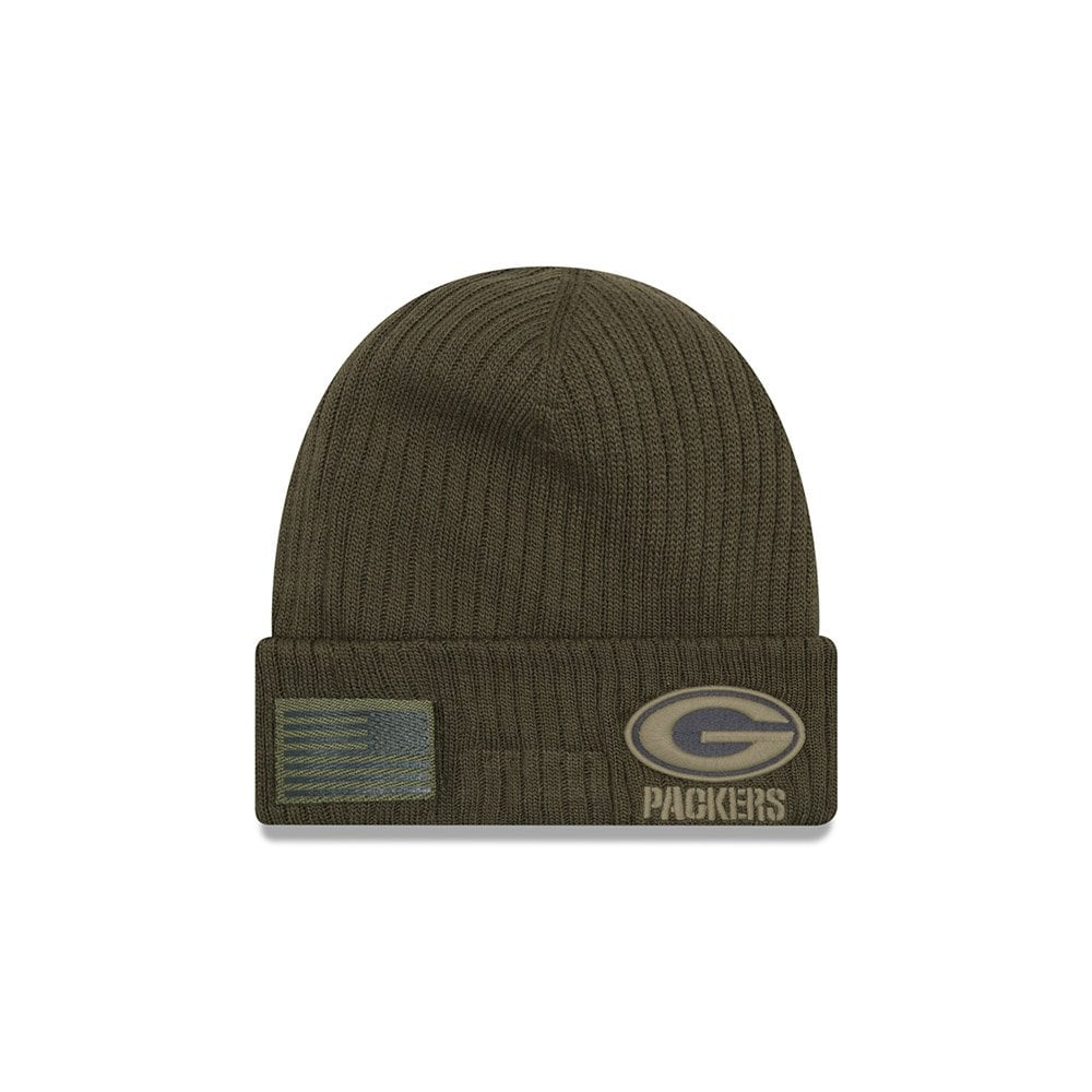 75cdcdce53356 New Era NFL Green Bay Packers 2018 Salute to Service Sideline Knit ...