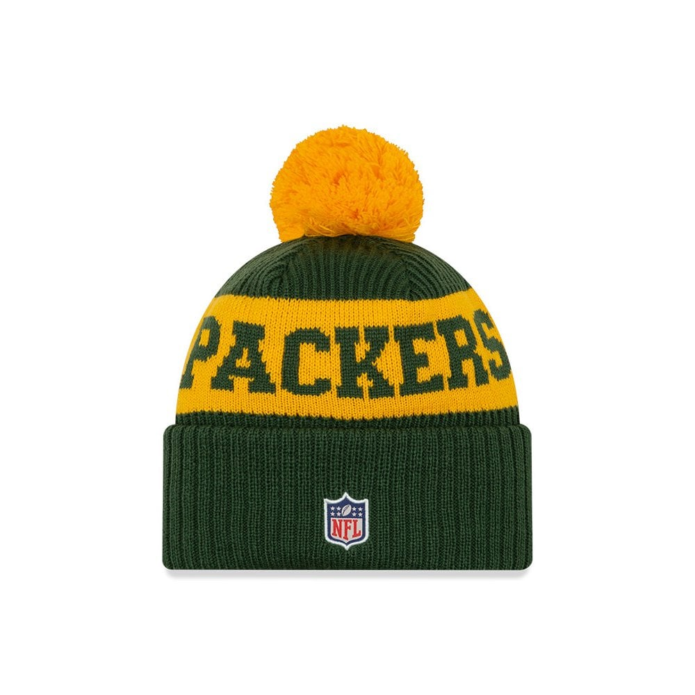 New Era Nfl Green Bay Packers Official 2020 Sideline Home Sport Knit Knits From Usa Sports Uk