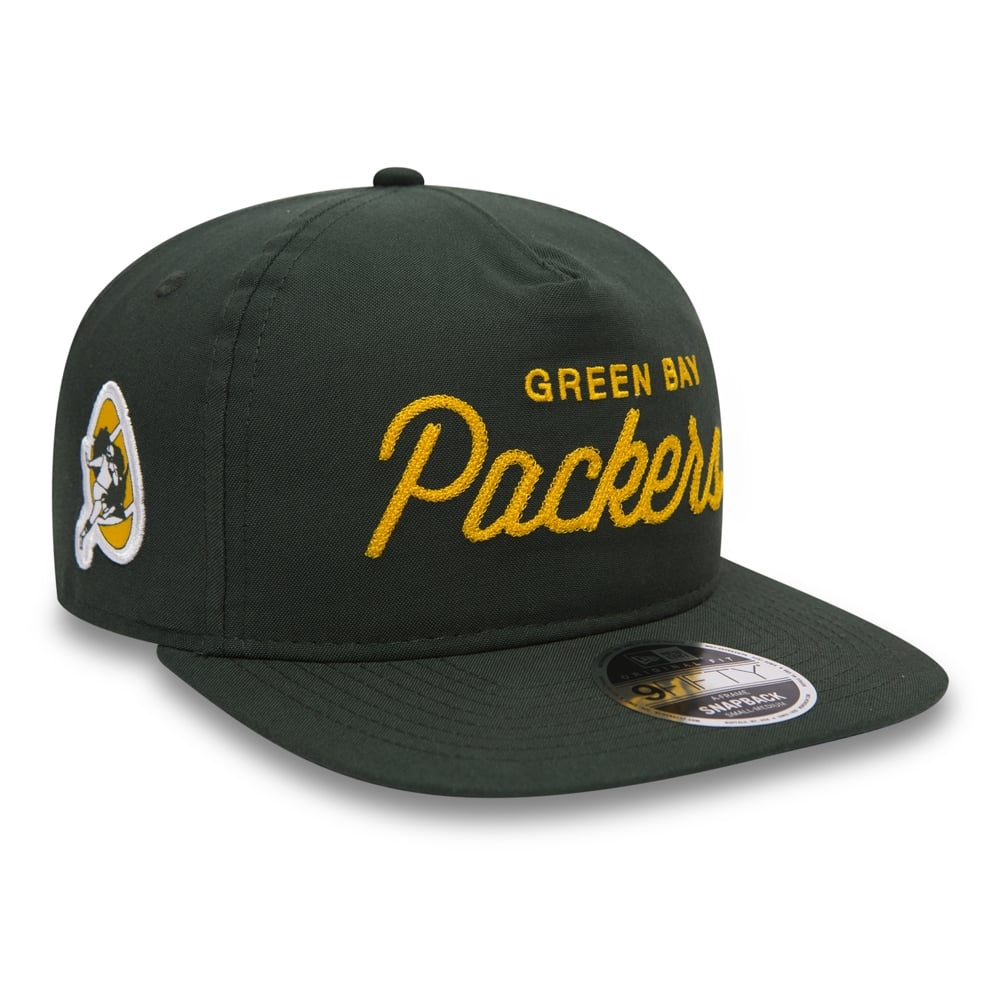 dab502233a7 New Era NFL Green Bay Packers Retro Oxford A Frame 9Fifty Cap ...